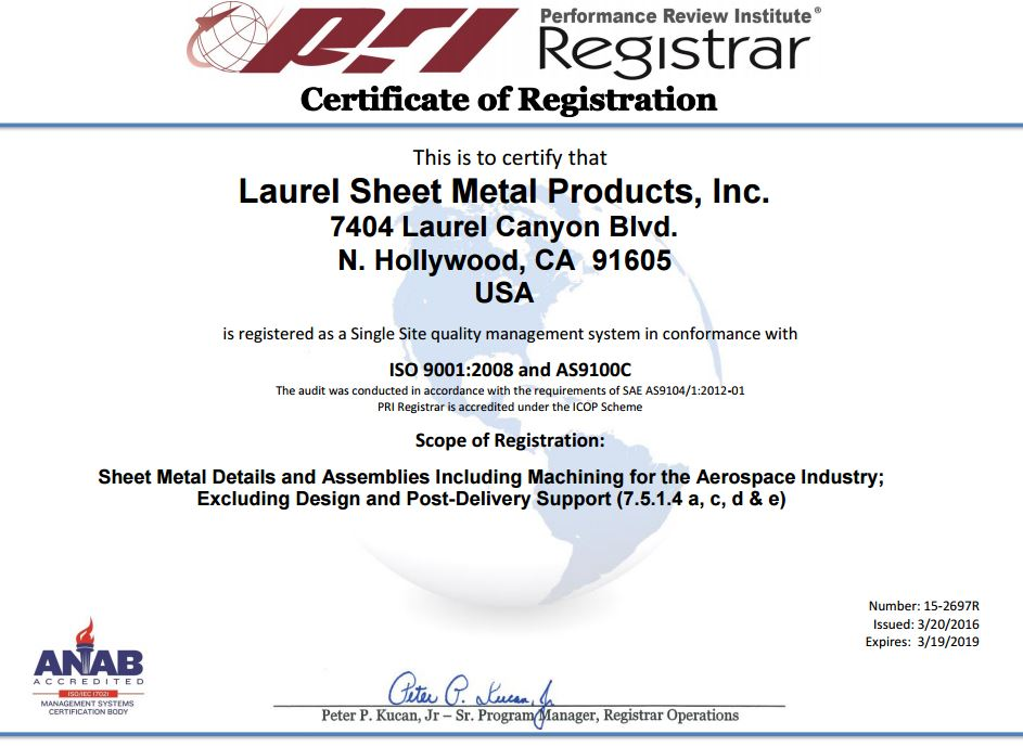 Laurel Sheet Metal Products Incorporated